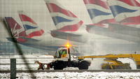 UK weather: snow disrupts flight times at Heathrow airport (Image: Reuters)