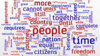 Wordcloud: Barack Obama's second inaugural address
