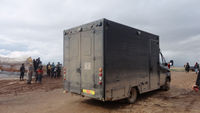 Truck in Syrian refugee camp