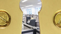 An office through a keyhole (pictures: Getty)