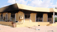 burnt out US embassy building in Benghazi after September 2012 attack (Getty)