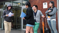 Foreign students at London Metropolitan University (Getty)