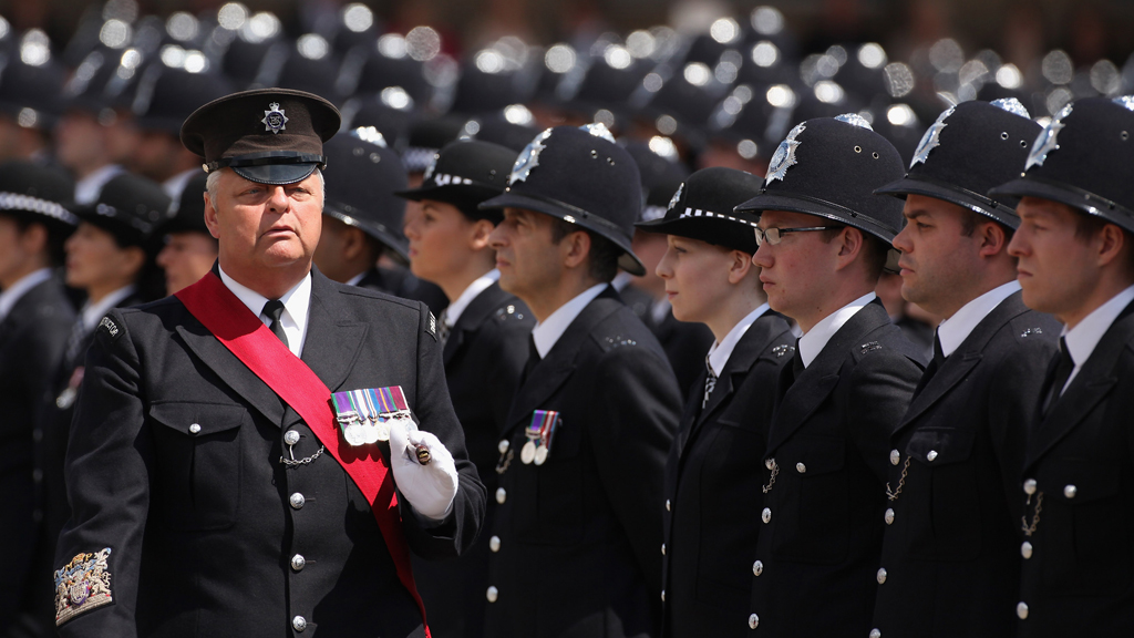 Police constables passing out at Hendon (Getty)