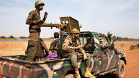 Malian army soldiers patrol the country's borders (pic: Reuters)