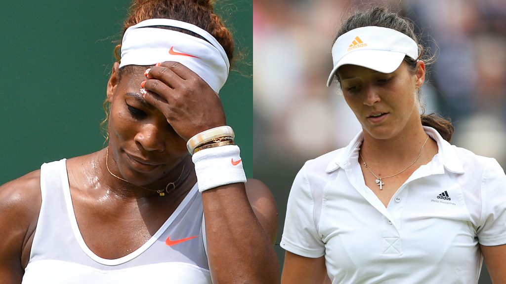 Serena Williams and Britain's Laura Robson are both knocked out of Wimbledon (picture: Getty)