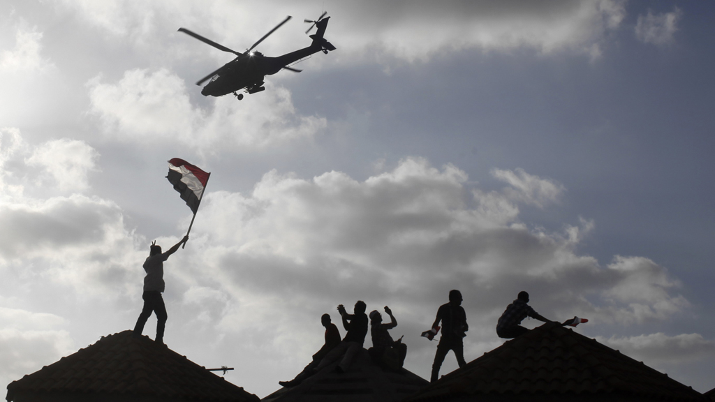 A spokesman for the Muslim Brotherhood in Egypt says the military are staging a coup (picture: Reuters)