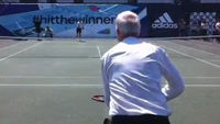 Jon Snow takes on Wimbledon champion Andy Murray