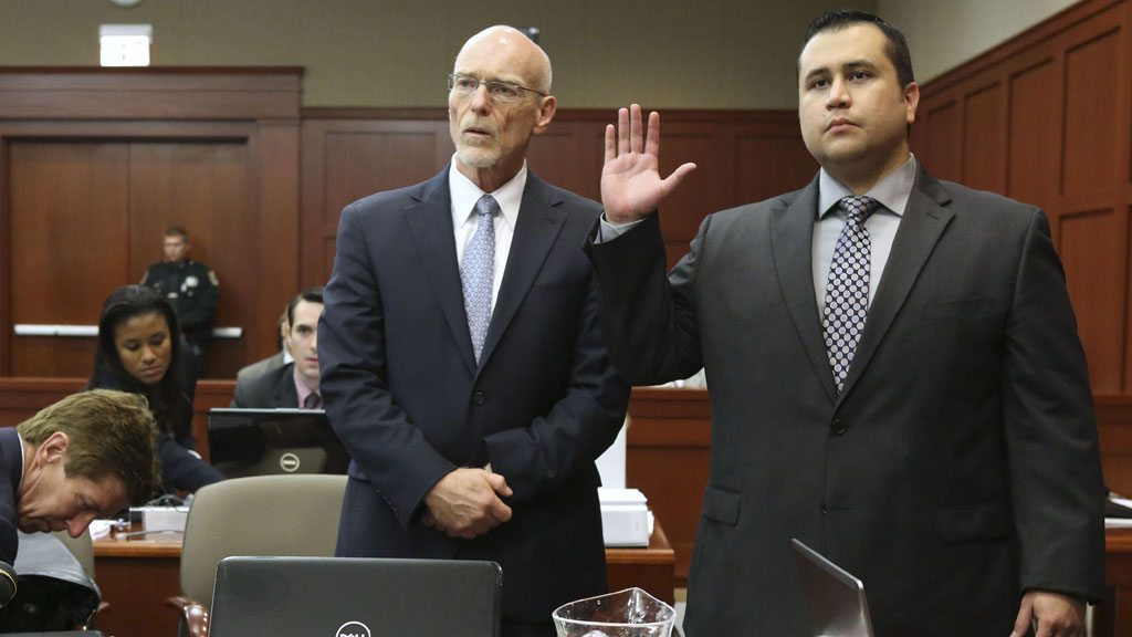 George Zimmerman and lawyer (getty)