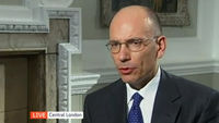 Italy's Prime Minister Enrico Letta calls for a pro-growth European Union