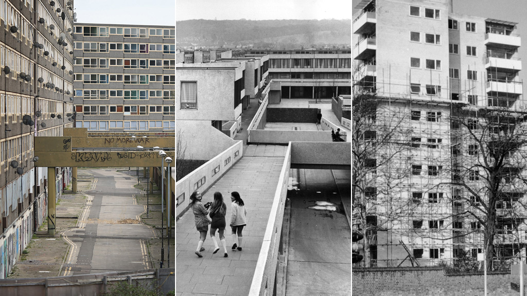Heygate, Thamesmead and Alton estates (pictures: Getty)
