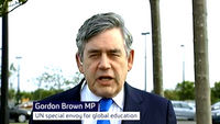 Gordon Brown on the Taliban letter to Malala (screengrab)