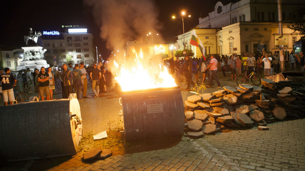 Politicians needed a police escort after a late-night sitting in Sofia, when 40 days of anti-corruption protests culminated in a siege of Bulgaria's parliament building.