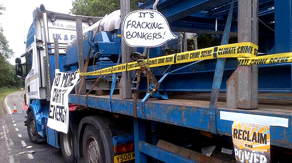 Fracking protest (Image supplied)