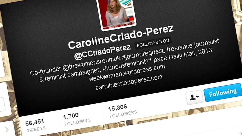 Caroline Criado-Perez on Twitter.
