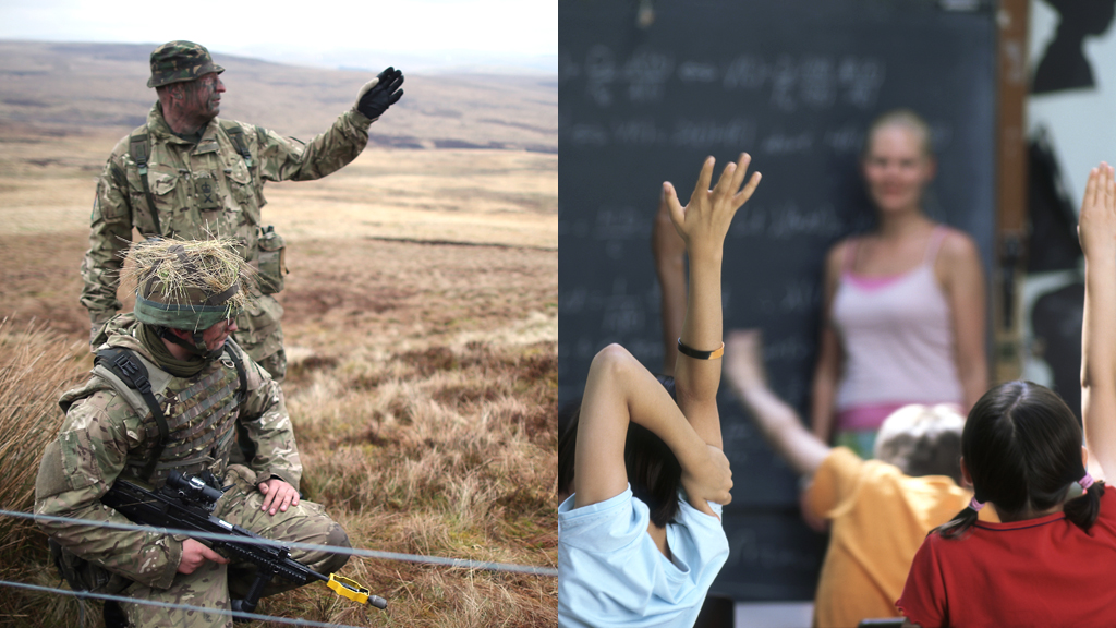 Attention! Troops fasttracked to teachers in two years (G)