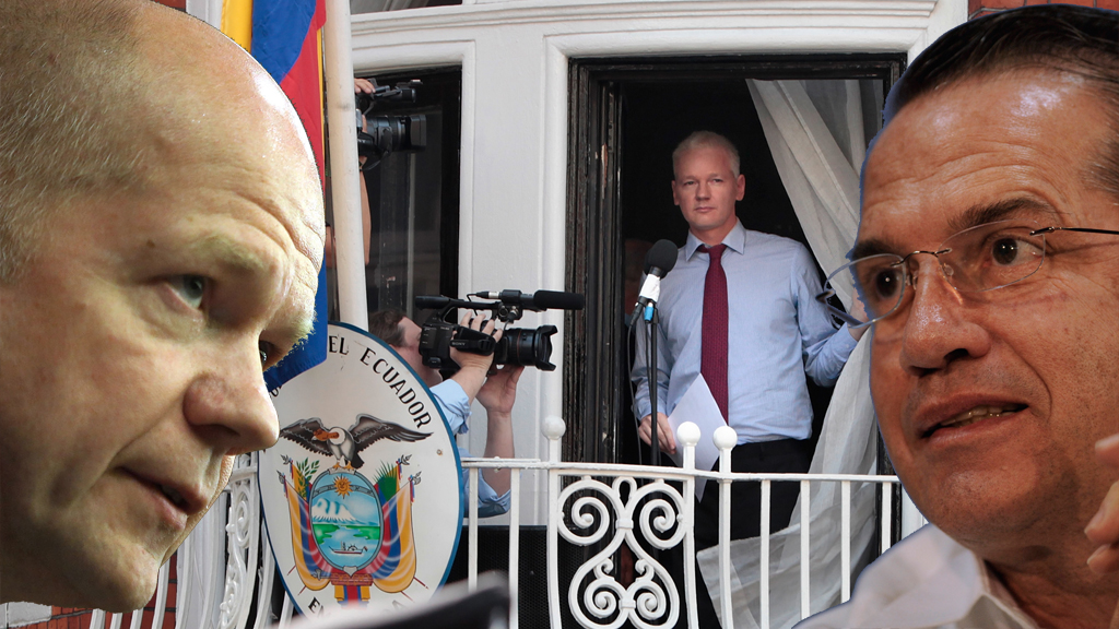 Froeign ministers from the UK and Ecuador fail to make prgoress in finding a diplomatic solution over Julian Assange's continued stay in the Ecuador embassy (pictures: Getty)