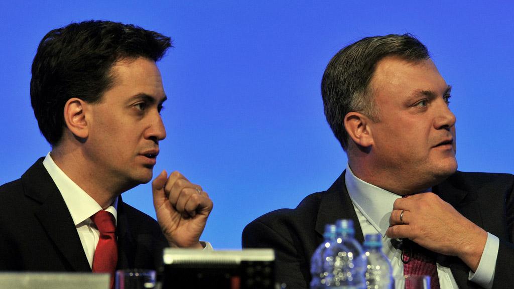 Ed Miliband backs his shadow chancellor Ed Balls on spending (Getty)