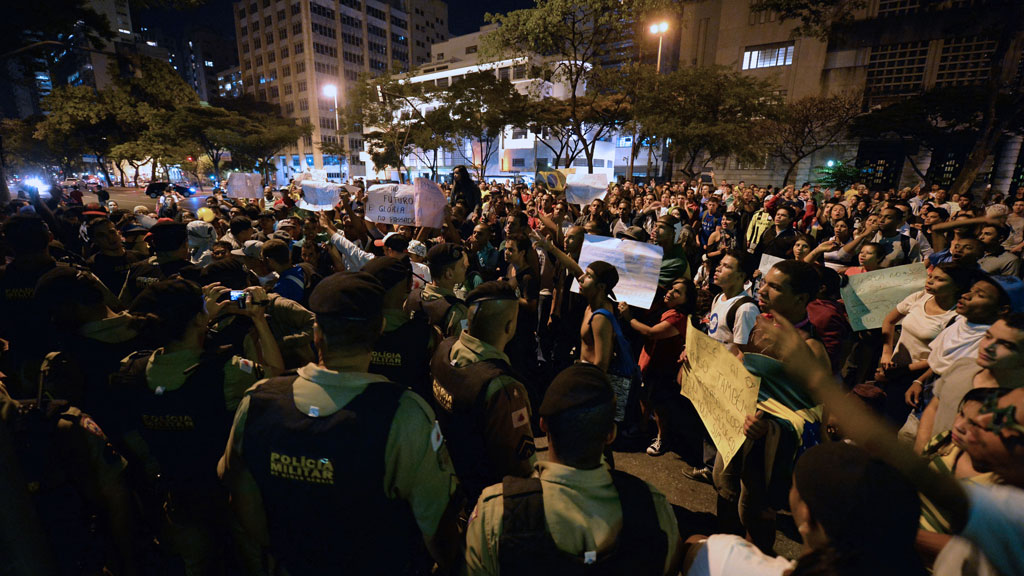 Brazil's protests have spread across eight cities (pic: Getty)