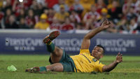 Replacement Australia fullback Kurtley Beale missed two penalties (pic: Reuters)