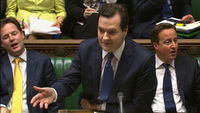 George Osborne delivers the spending review news (Reuters)
