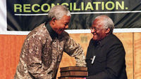 Mandela and Tutu at truth commission (getty)