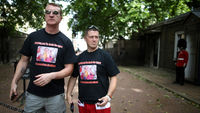 EDL leaders Tommy Robinson and Kevin Carroll arrested over Woolwich walk (picture: Getty)