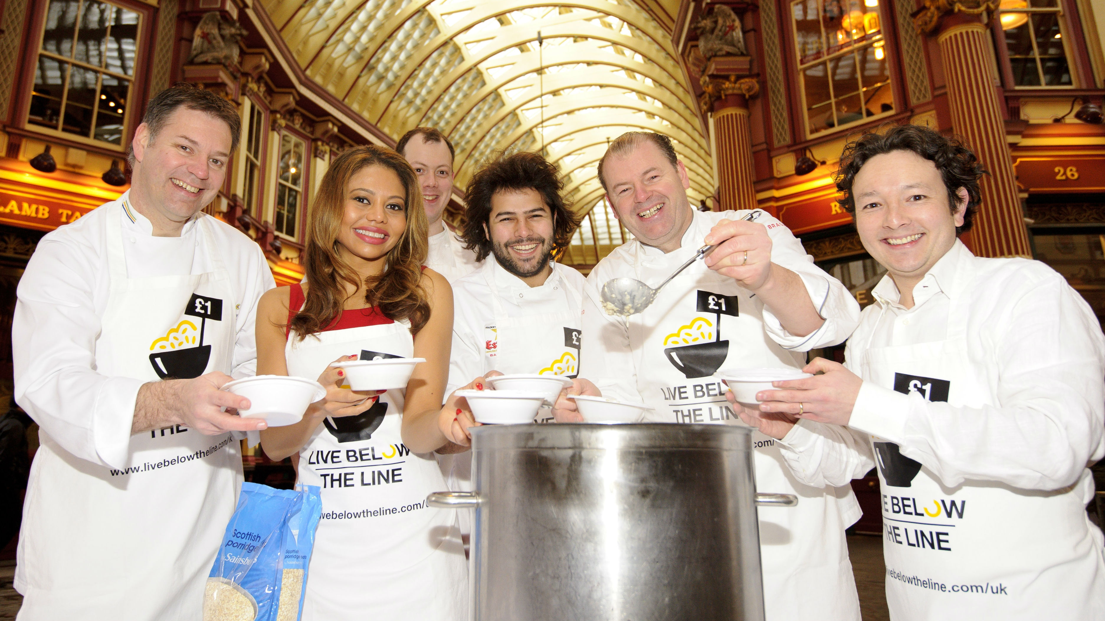 top chefs support living below the line