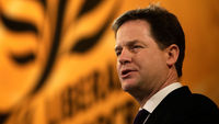 Nick Clegg has used his closing speech at the Liberal Democrat conference to attack his Conservative coalition partners (picture: Getty)