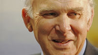 Lib Deb Business Secretary Vince Cable (R)