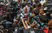 Ram Singh's lawyer addresses journalists