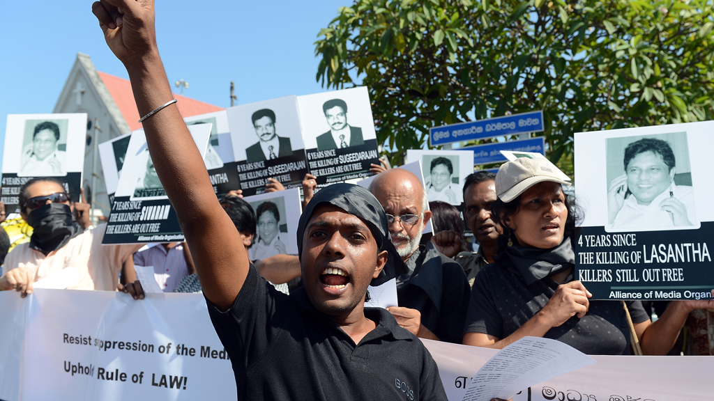 Sri Lankans call for investigation into over a dozen killings of journalists in recent years. (Getty)