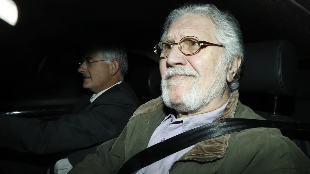 Dave Lee Travis after being arrested in November (Reuters)