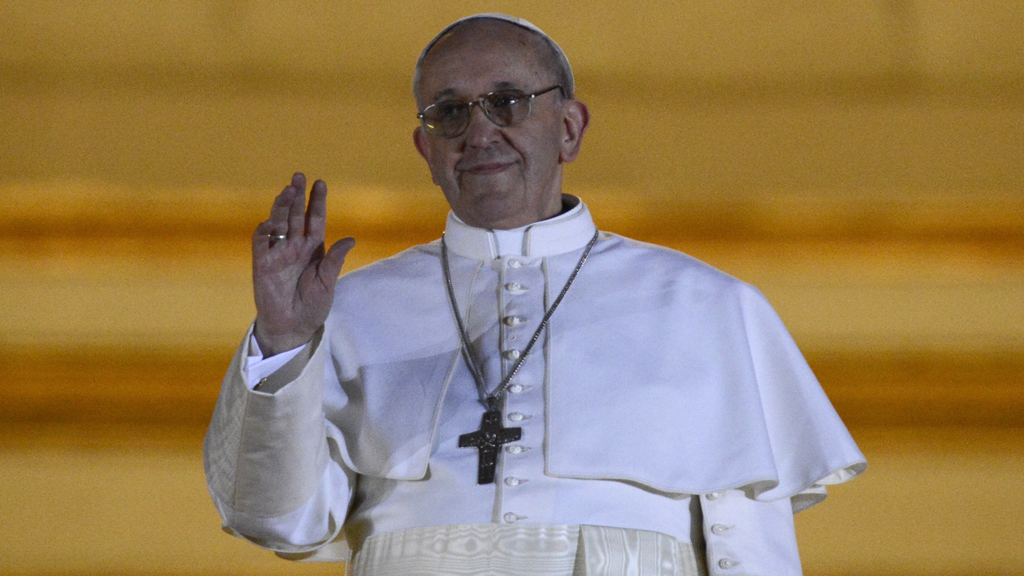 Jorge Mario Bergoglio is chosen as Latin America's first pontiff and will be known as Pope Francis.