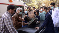 Twenty five people died in an attack near the northern Syrian city of Aleppo - it has been claimed chemical weapons were used (picture: Reuters)