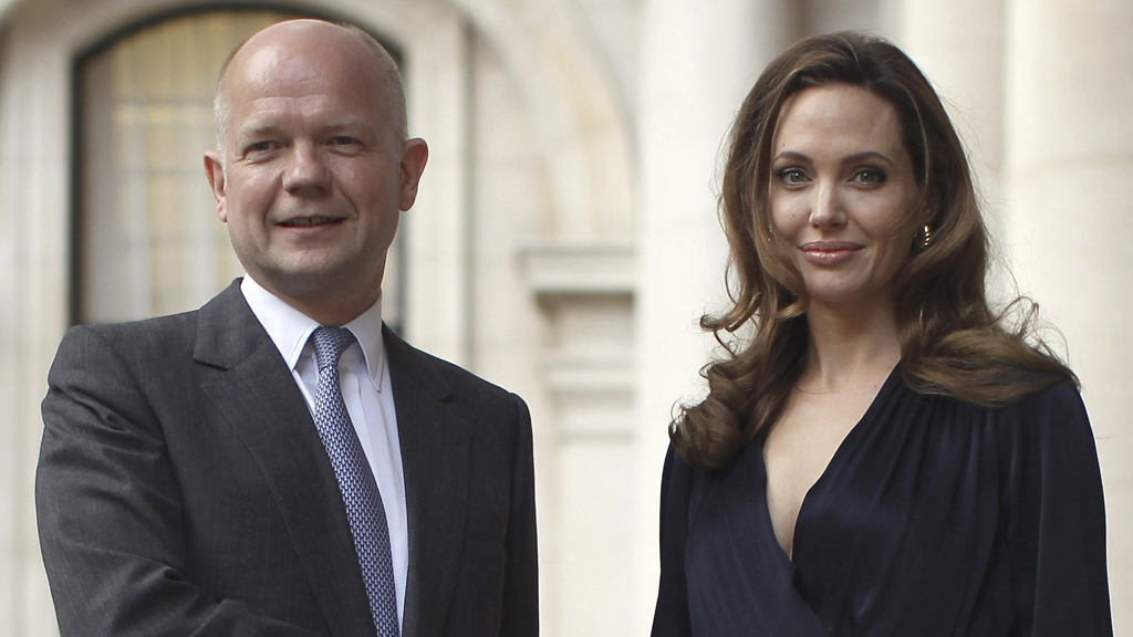 Angelina Jolie and William Hague have embarked on a mission to the Democratic Republic of Congo and Rwanda to fight rape as a weapon of war (picture: Reuters)