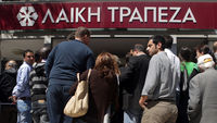 Cypriots queue as banks re-open (Getty)