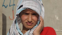 A Syrian teenager girl in the refugee camp of Zataari