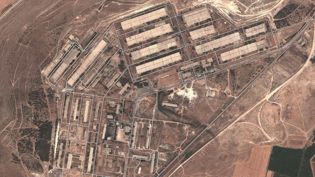 The 790 Defence Factories, the largest military facility in the Middle East, that rebels are trying to take hold of (picture: Google)