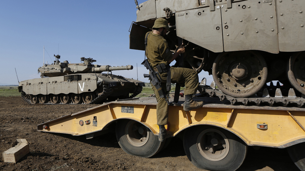 Israeli troops have been stationed at the Syrian border (picture: Reuters)