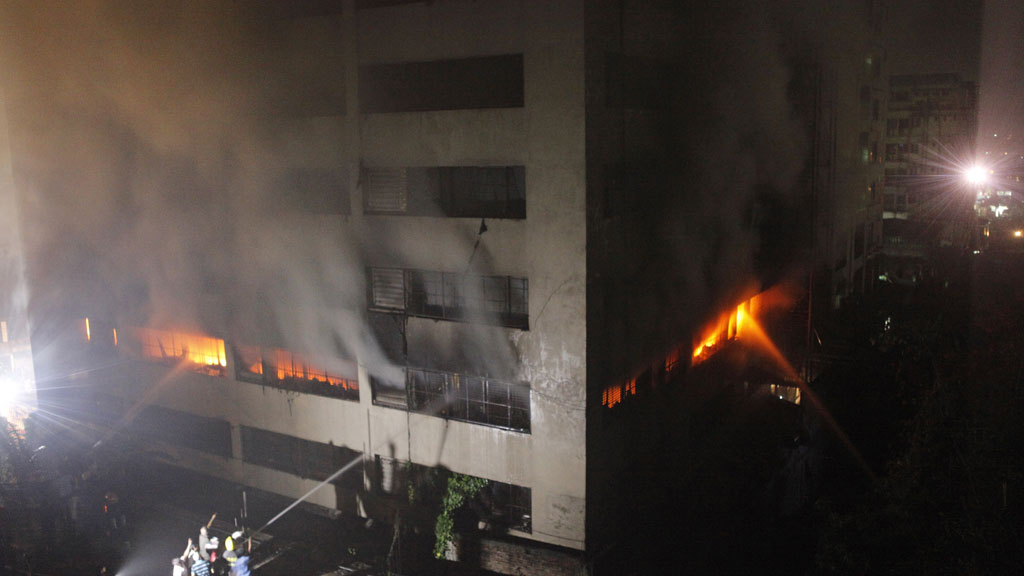 Officials said the blaze happened overnight in the Mirpur industrial district (pic: Getty)