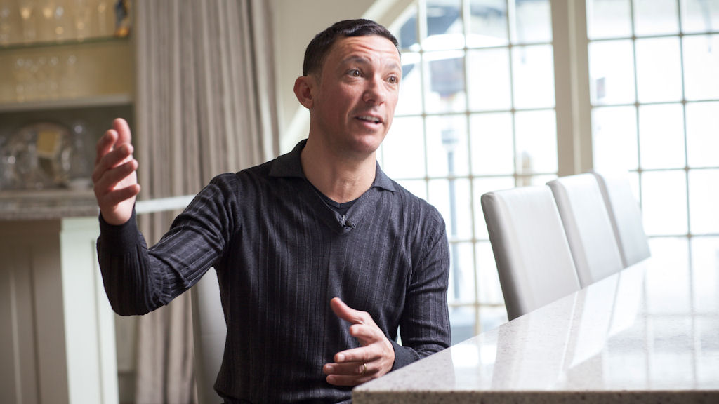 Frankie Dettori showed his nerves in the interview, says Clare Balding (C4)