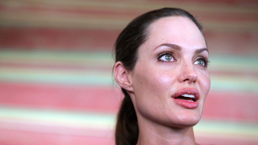 Angelina Jolie, who revealed to the world she had undergone a double mastectomy. (Getty)