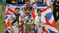 David Beckham and his sons (Getty)