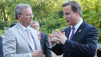 David Cameron is to tackle business leaders, including Google executive chairman Eric Schmidt, over tax evasions (picture: Getty)