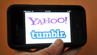Yahoo and Tumblr logos (getty)