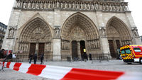 Notre Dame suicide: tourists evacuated after far-right historian Dominque Venner shoots himself (picture: Getty)