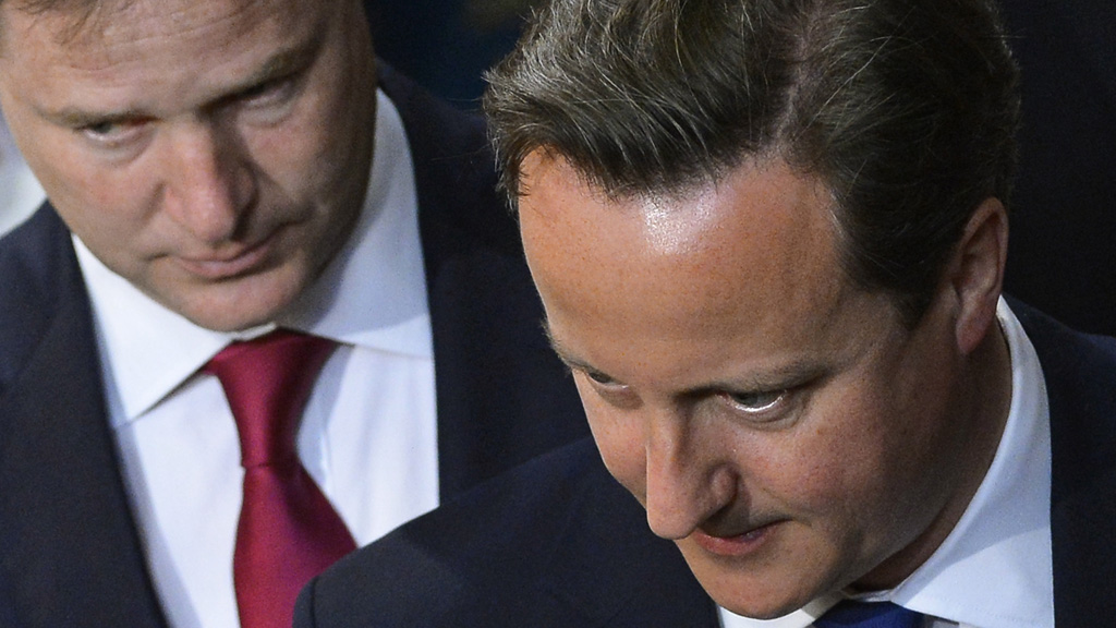 Davdi Cameron and Nick Clegg have both reaffirmed their commitment to maintaing the coalition partnership until the 2015 general election (picture: Reuters)