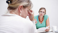 A debt counselling session (Getty)