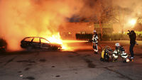 The Swedish capital is hit by a fifth night of violent disorder following the police shooting of a 69-year-old  man in an immigrant quarter of the city (Reuters)