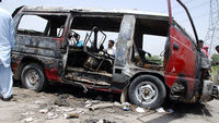 Pakistan school bus fire kills 17 (Image: Reuters)